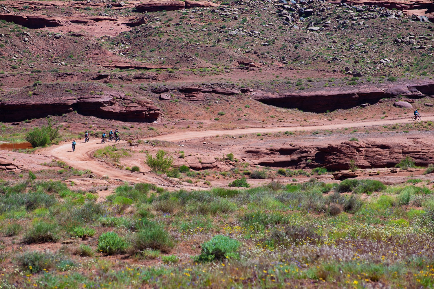 Canyonlands-National-Park-Full-Day-Guided-Mtb-Tour-Group-Through-Canyon