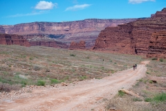Canyonlands-National-Park-Full-Day-Guided-Mtb-Tour-Climbing-Toward-Lunch-1