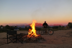 Gooseberry-Mesa-Guided-Tour-Campfire-Sunset