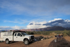 Gooseberry-Mesa-Guided-Tour-Truck-Camp-View