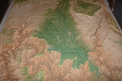 The relief map of the Kaibab Plateau at Jacob Lake Visitor Center