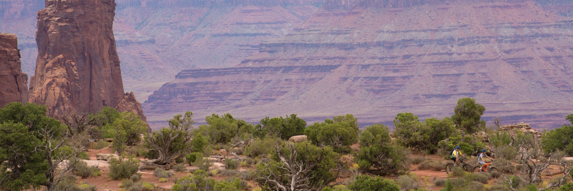 Dead Horse Point State Park - Intredpid Trail, below the switchback