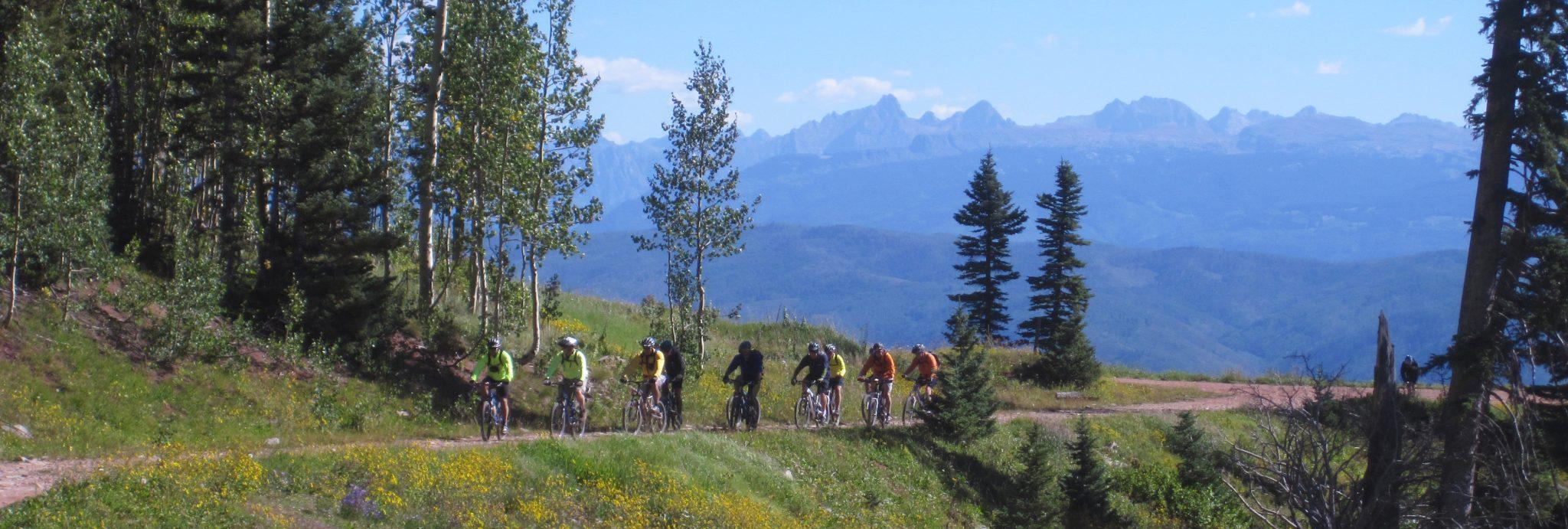 Outside Durango, two track intermediate trail