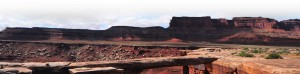 Musselman Arch, Canyonlands NP, is a view stop on the White Rim guided mountain bike tour