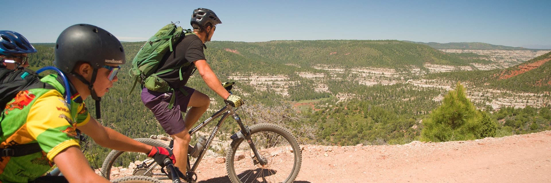 After climbing out of Big Notch, Bears Ears riders are rewarded with a view into Dark Canyon
