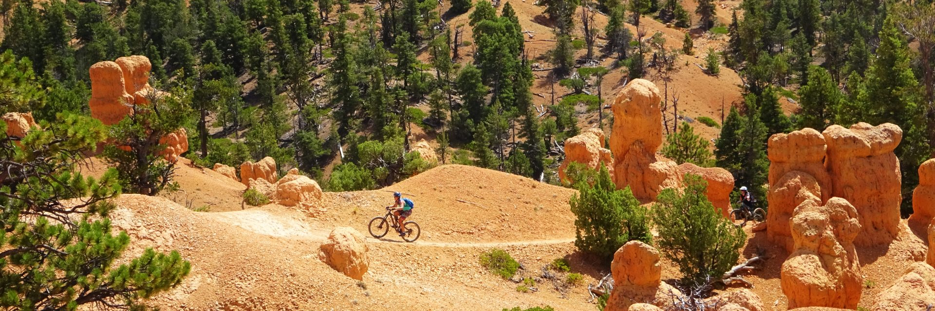 Bryce to Zion tours include a final day on Thunder Mountain Trail in Red Canyon on the border of Bryce National Park