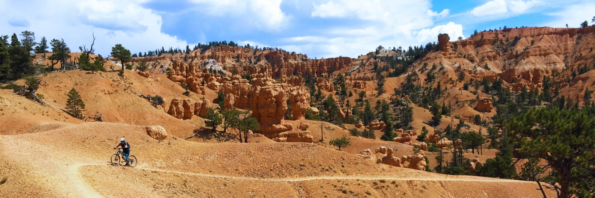 Thunder Mountain is the final day of our Bryce To Zion 4-day guided mountain bike tour