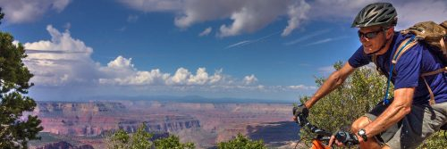 Riding the Rainbow Rim Trail along the Grand Canyon North Rim