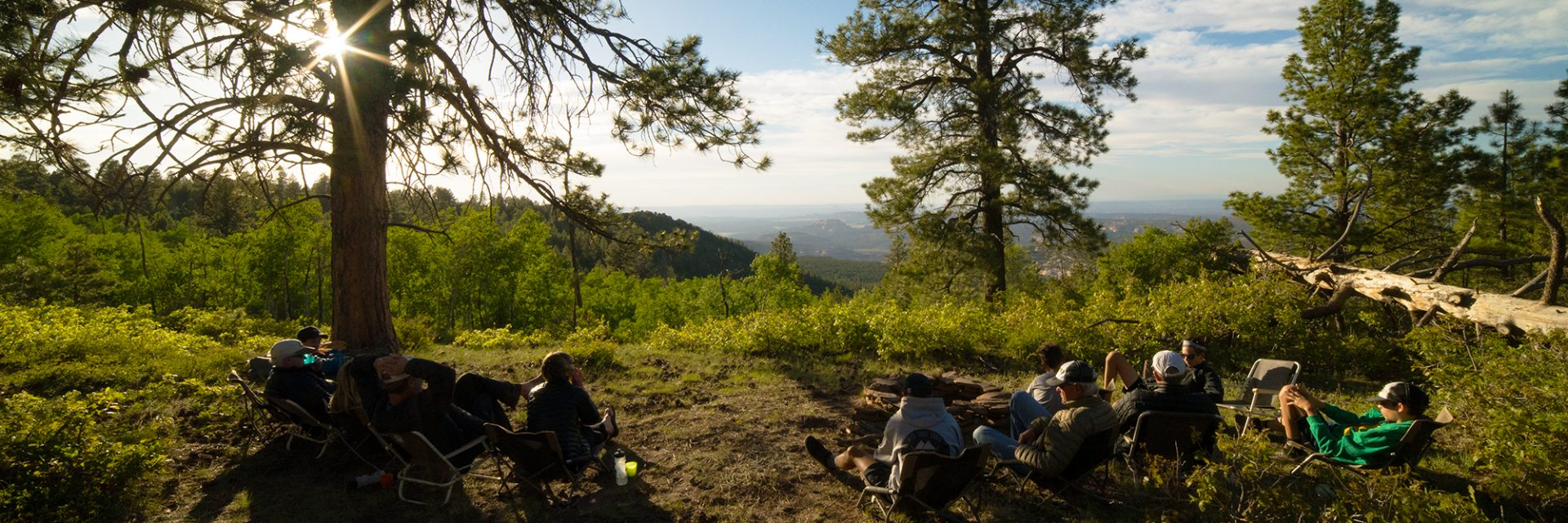 Bears Ears riders at Camp 2 watch the sunset