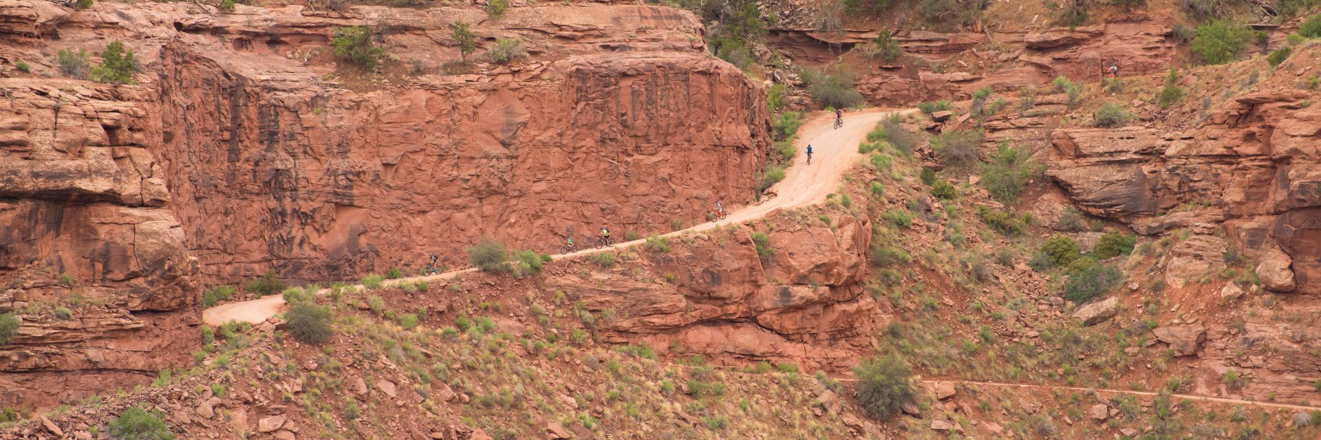 Top of Shafer Trail swtichbacks, included in White Rim and Canyonlands Full Day tours