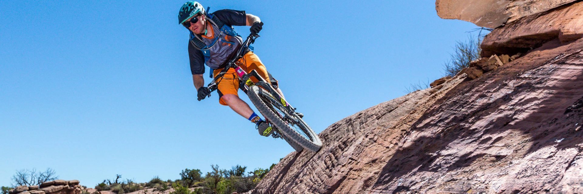 Slickrock Trail has plenty of opportunities for the more adventurous riders to stretch the envelope.