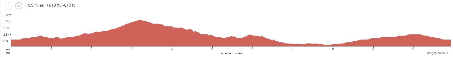 Arizona Sonoran Desert Day 1 Elevation Profile