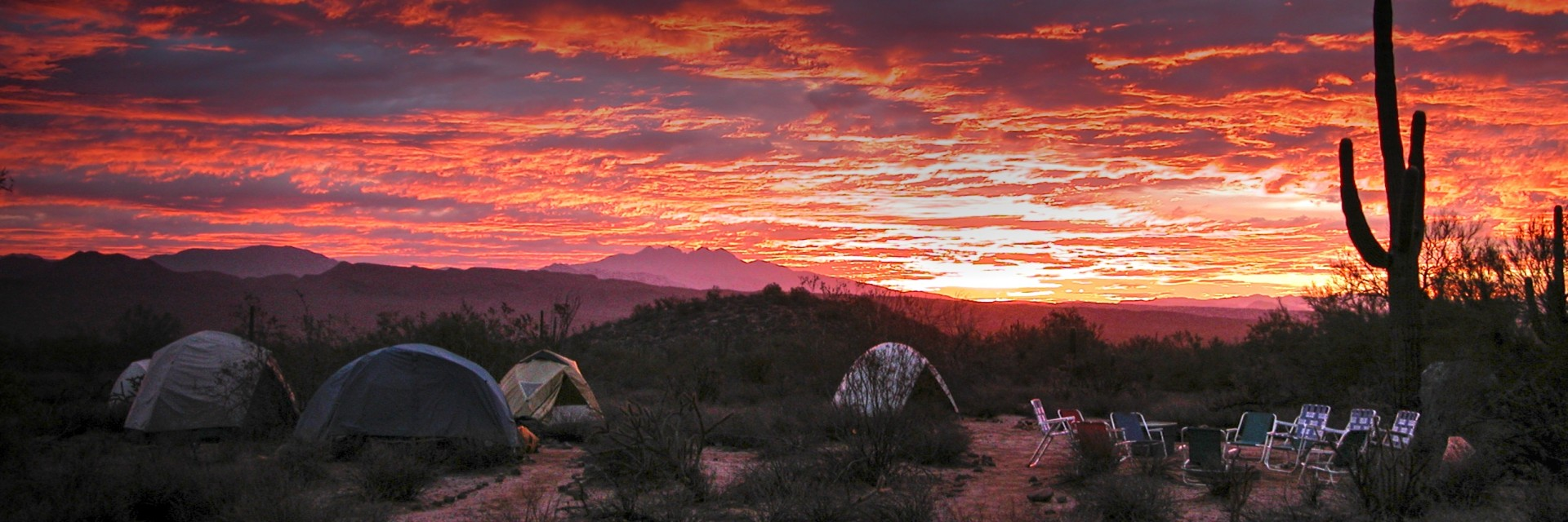 Purple Gold sunset, camping on the Sonoran Desert Singletrack