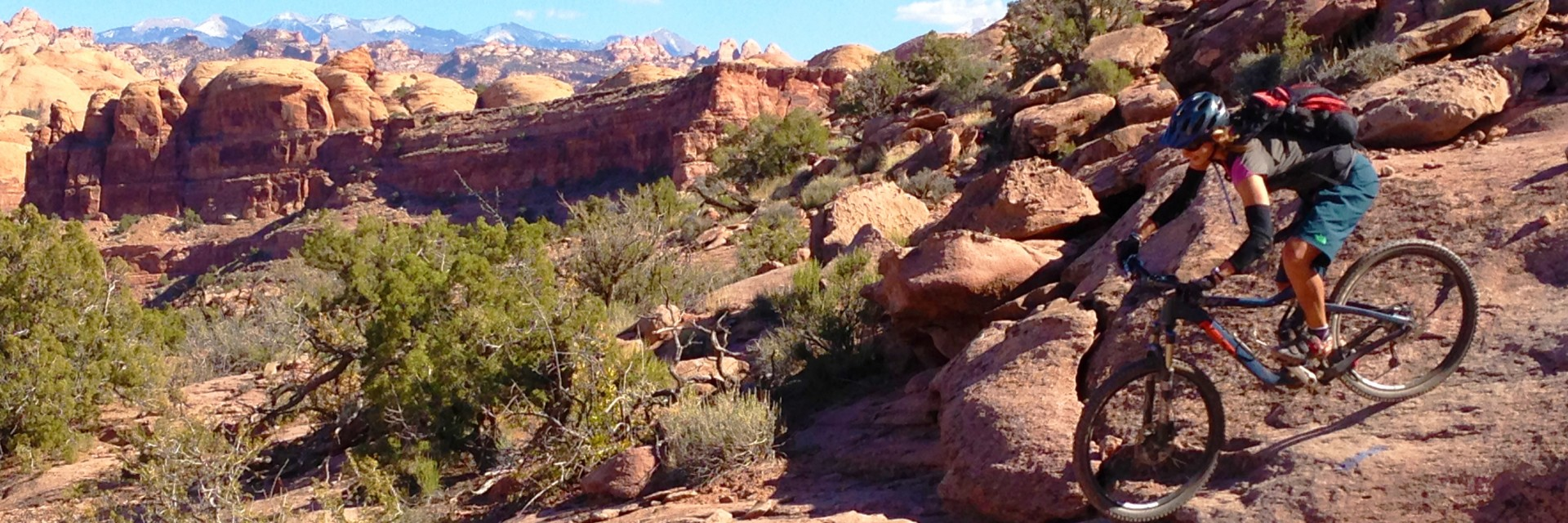 Amasa Back Trail, west of Moab UT, La Sal Mountains on horizon