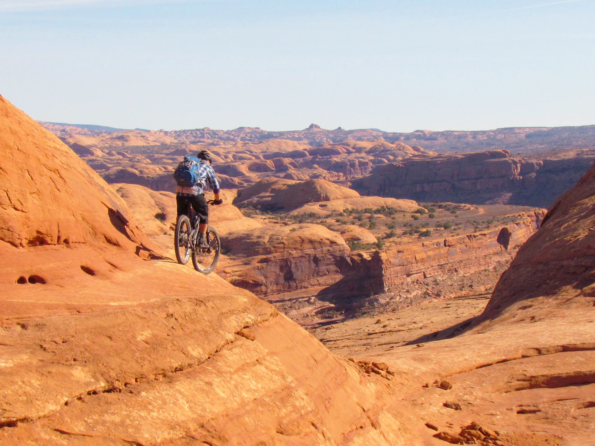 The Amasa Back guided mountain bike tour can include the Rockstacker section with rollercoaster slickrock