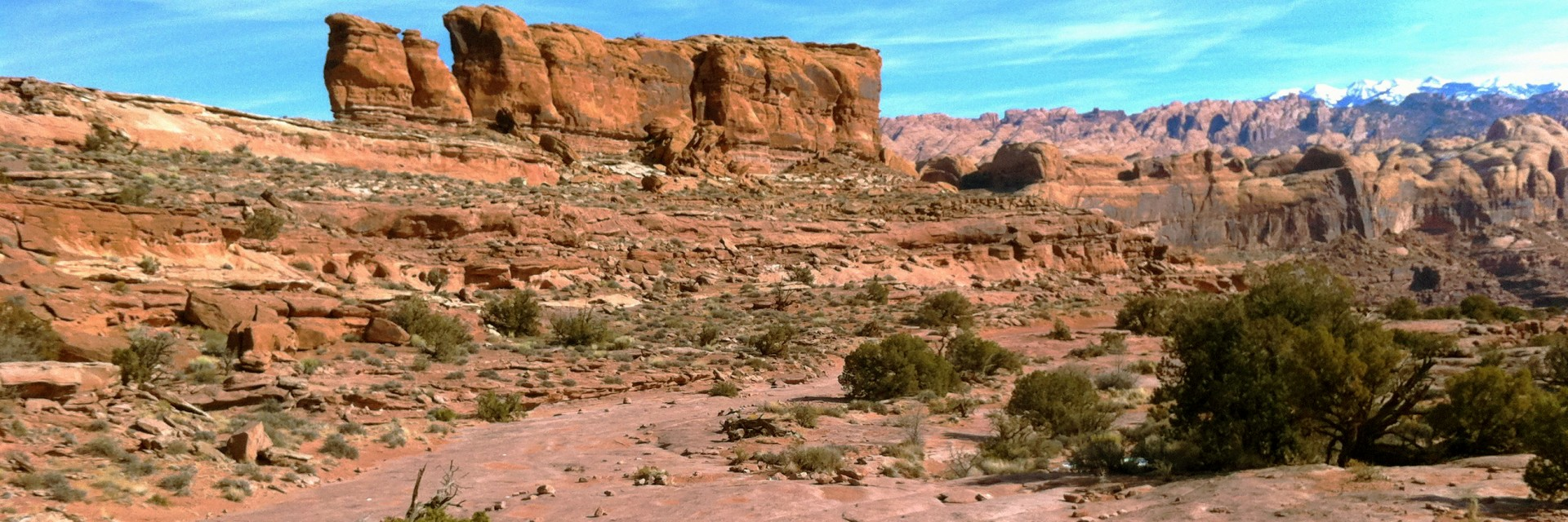 The Whale Rock is a prominent feature on the Captain Ahab singletrack section of Amasa Back guided mountain bike tour west of Moab, UT