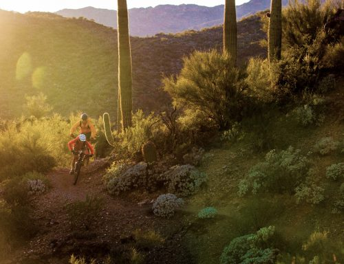 Black Canyon Trail, Central Arizona, singletrack IMBA epic ride, winter sun tour