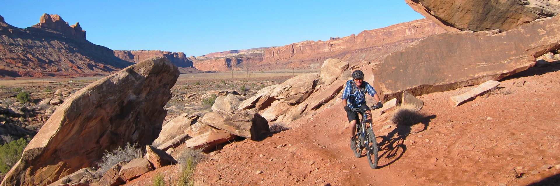 The Moab Brands mtb riding area, north of Moab, UT
