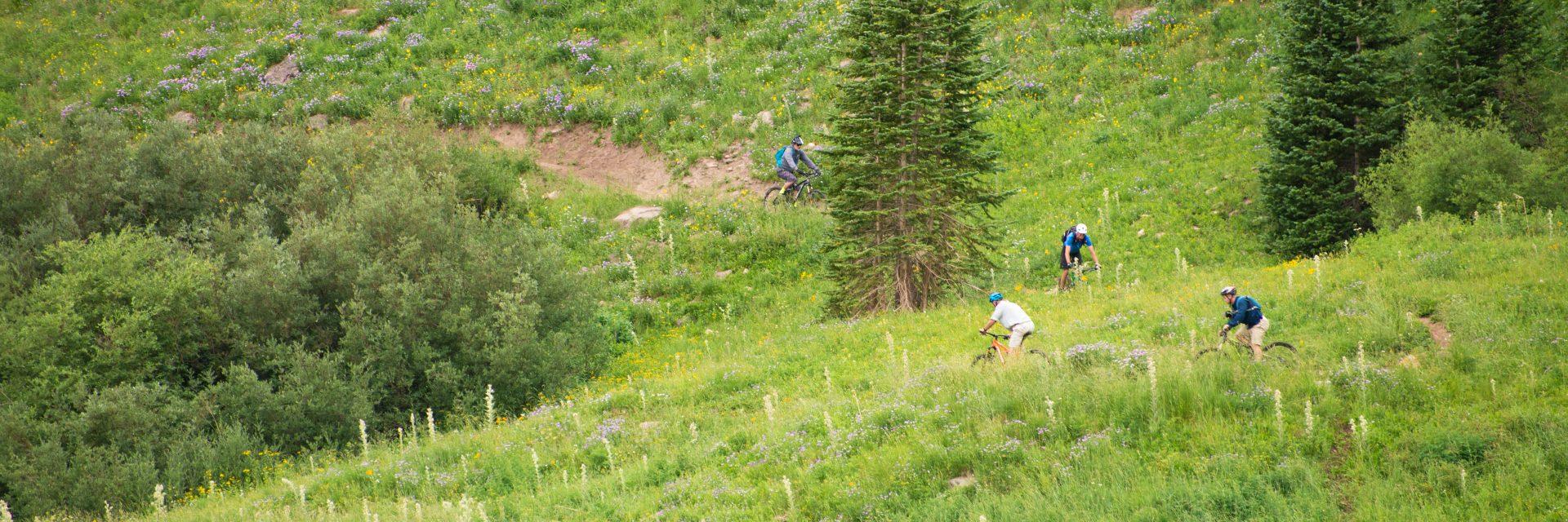 Approaching Burro Pass climb, Geyer Pass, La Sal Mts, The Whole Enchilada