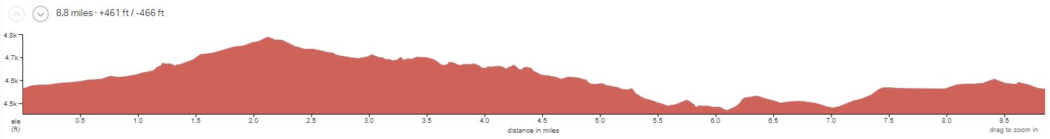 Courthouse Loop Elevation Profile