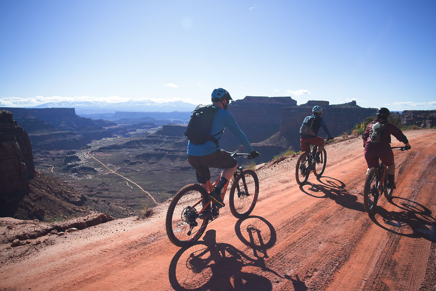 Canyonlands National Park Full Day Guided Mtb Tour Top of Shafer LaSals