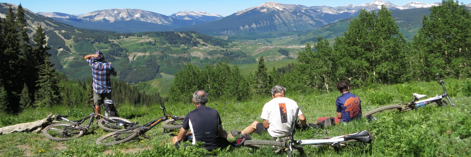 Rest stop in meadow above Crested Butte on the Colorado Trail