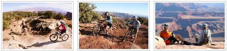 A photo gallery of Dead Horse Point Singletrack mountain bike tour.