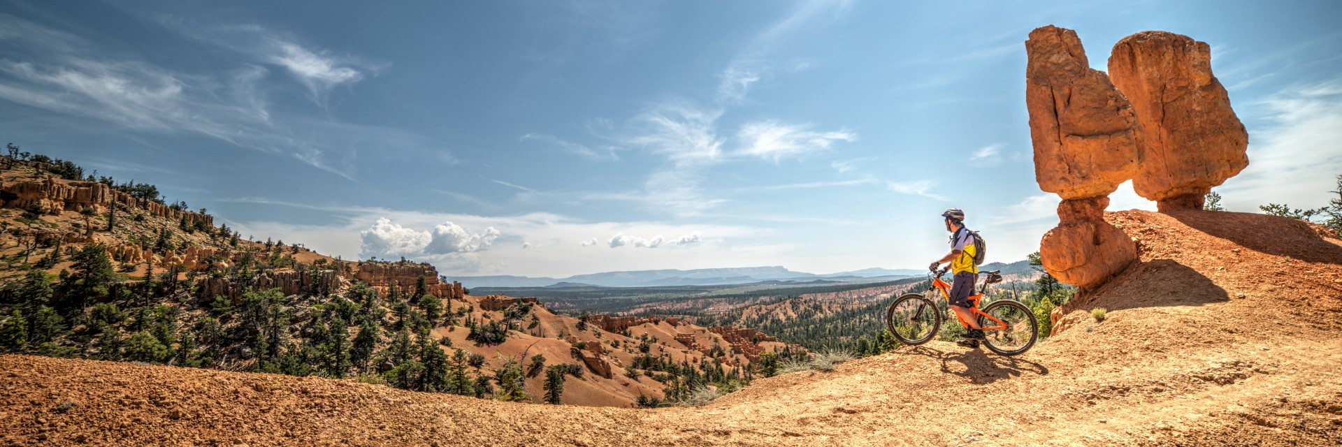 Taking in the amazing views atop the Thunder Mountain Trail, adjacent to Bryce Canyon NP