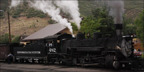 A fun activity in Durango CO is to ride the Durango & Silverton old fashioned steam train
