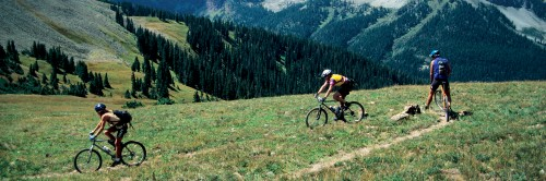 Switchbacks on the Durango Intermediate Trail, CO