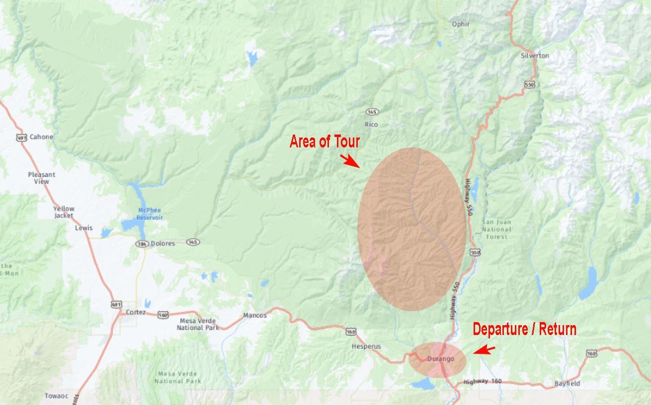 Durango Intermediate Location Map