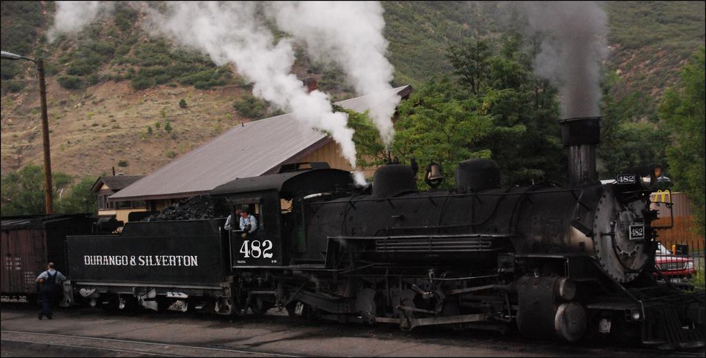 A fun activity in Durango CO is to ride the Durango & Silverton old fashioned steam train