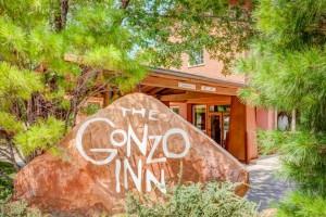 Front Entrance toThe Gonzo Inn in Moab UT