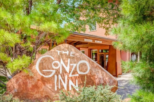 Front Entrance toThe Gonzo Inn in Moab UT