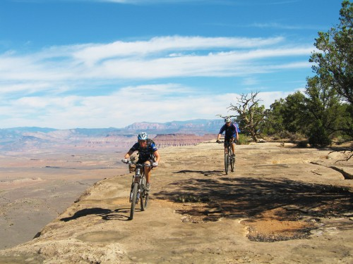 Gooseberry Mesa, strong intermediate singletrack, guided mountain biking
