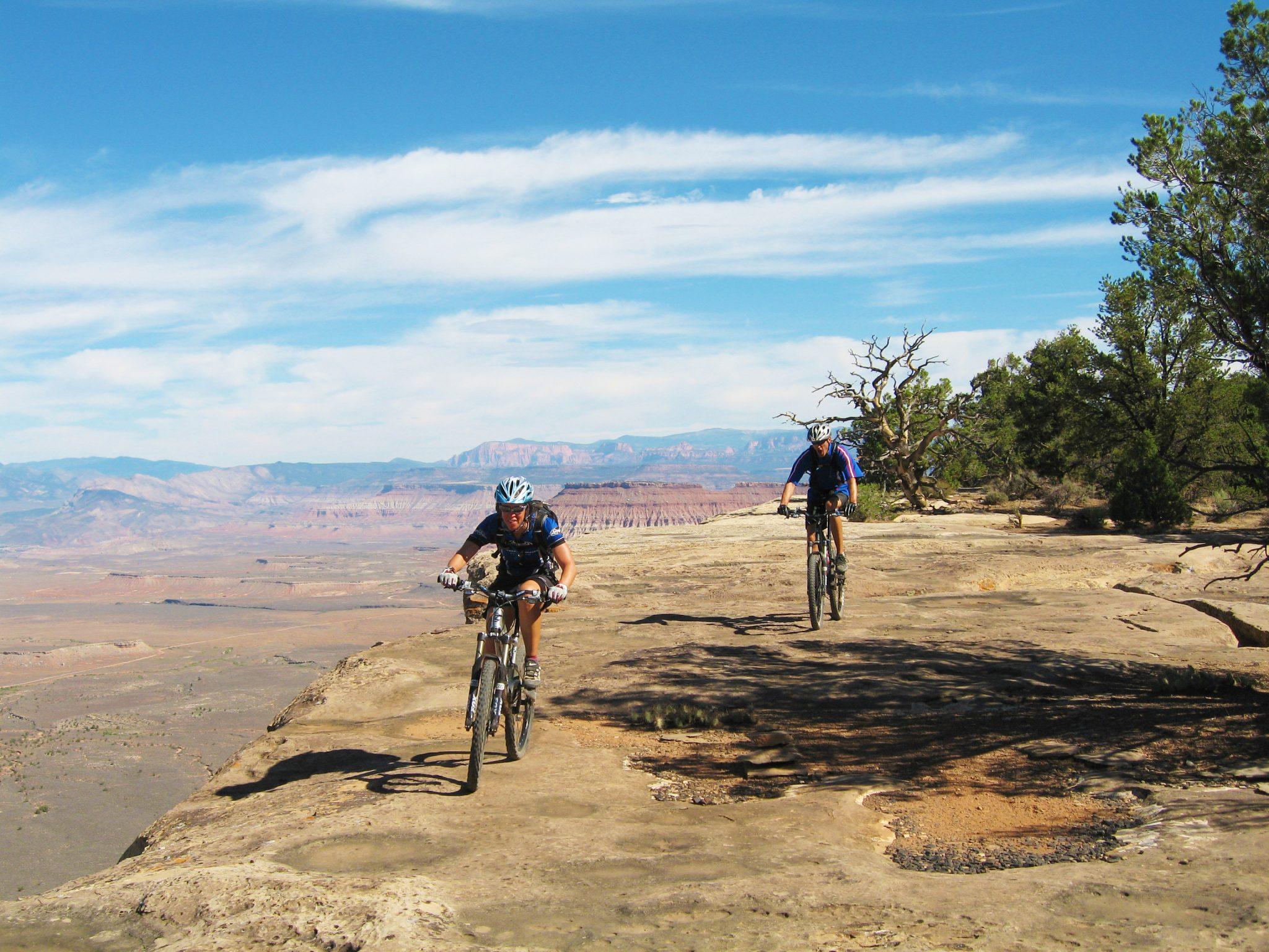 Gooseberry Mesa, strong intermediate singletrack, guided mountain biking