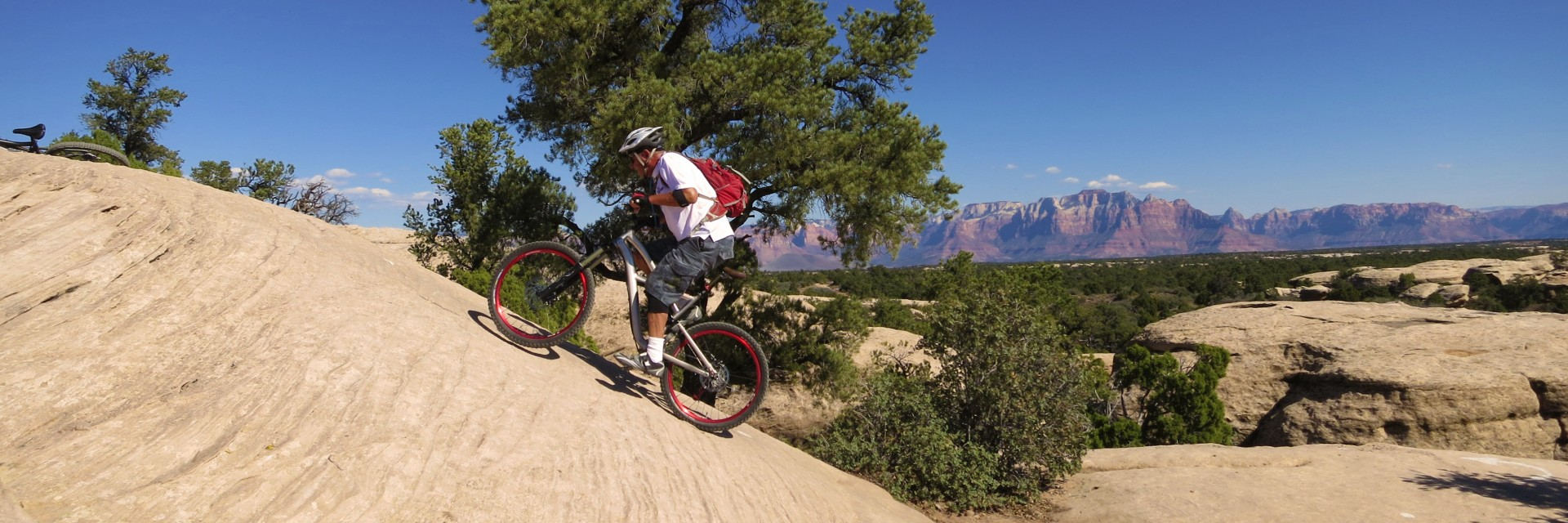 The 3 and 4 day guided mountain bike tours of Gooseberry Mesa give riders plenty of technical challenges