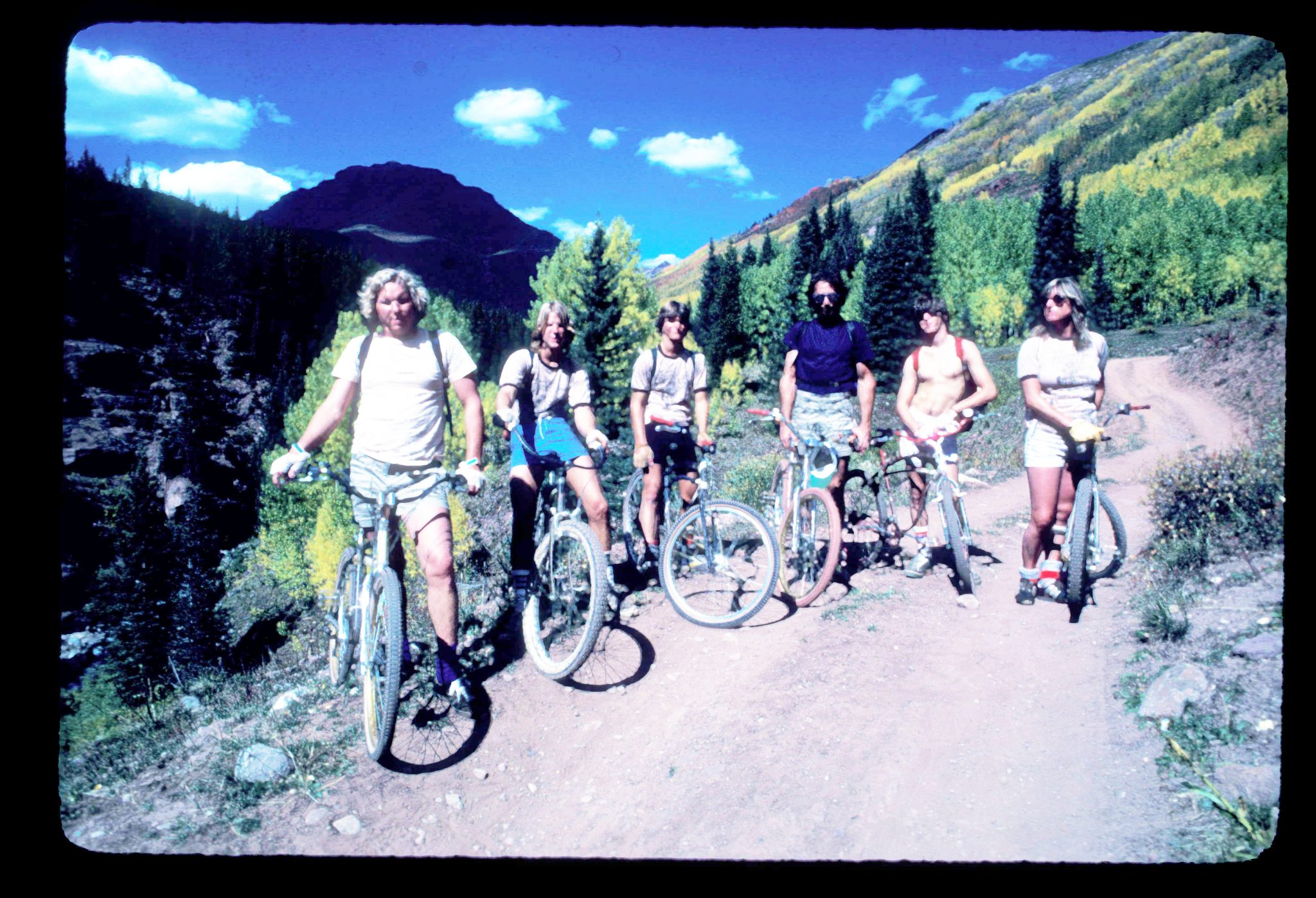 Pearl Pass mountain bike group