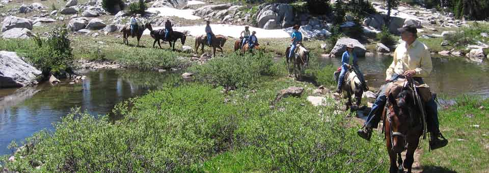 Horsepacking tour in the Grand Teton