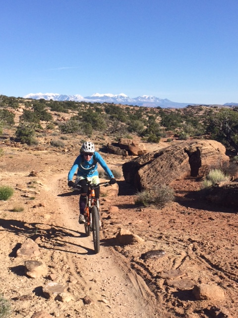 Moab's first singletrack - Baby Steps