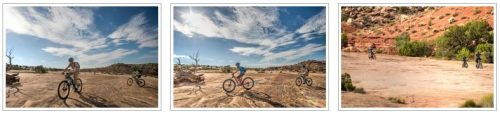 A photo gallery for the Klondike Bluff Trail mountain bike tour