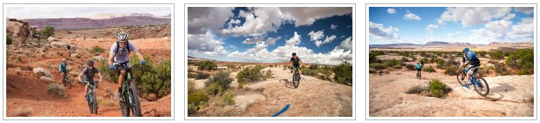 A photo gallery of the Klonzo mountain bike tour