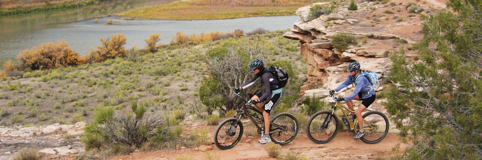 Singletrack section of the Kokopelli Trail nears the Colorado River, Fruita CO
