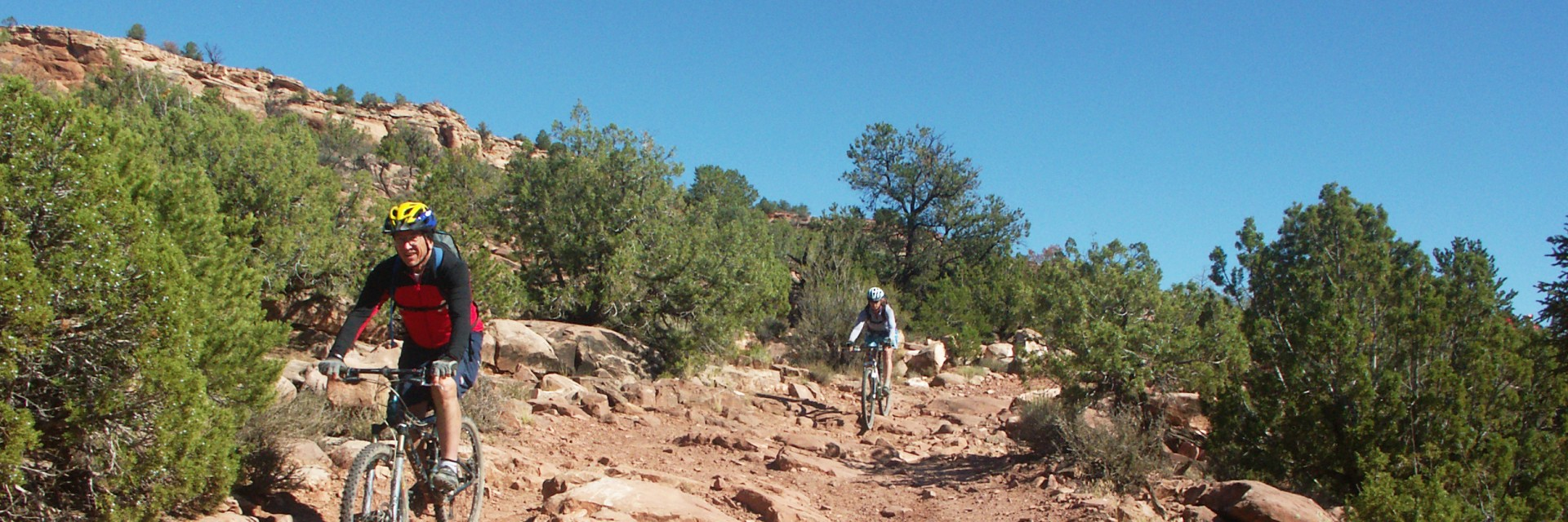 The Kokopelli Trail 5-day guided mountain bike tour from Loma CO to Moab UT has rough and challenging sections