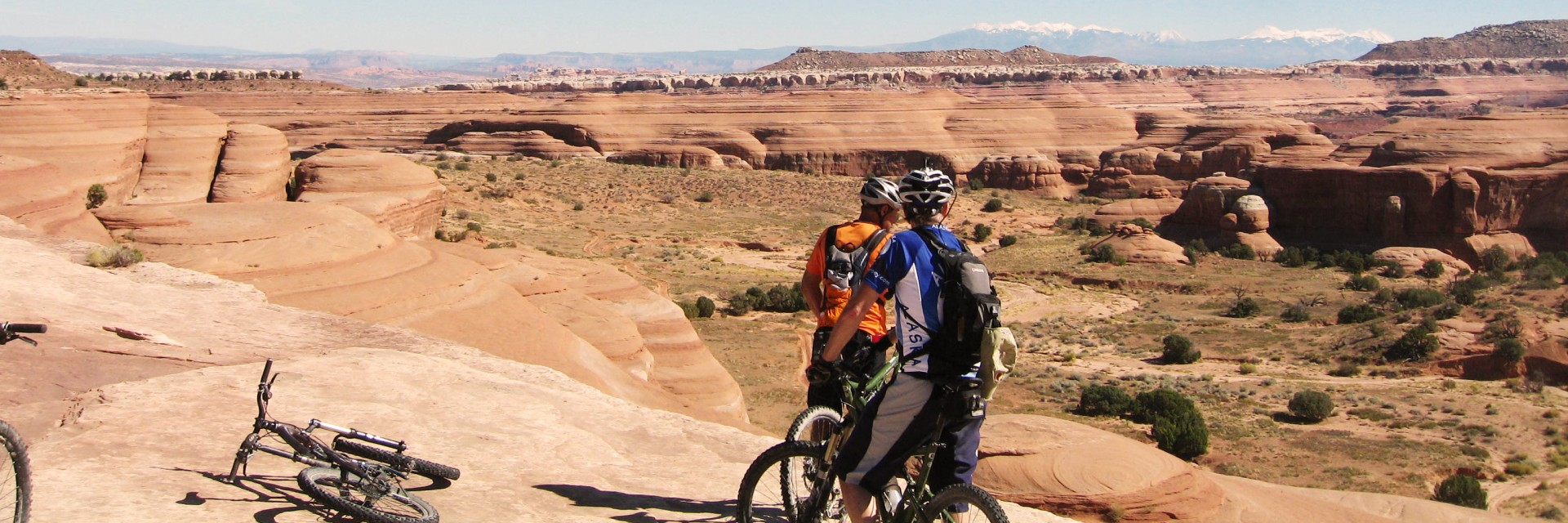 Western Rim section of the Kokopelli Trail between Loma, CO and Moab, UT - guided mountain bike tour