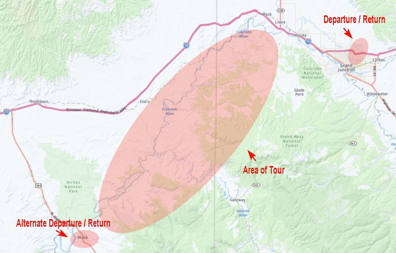 Kokopelli Trail Location Map