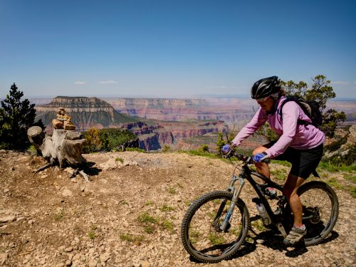 Day 3 of the North Rim Grand Canyon guided tour includes Locust Point on the Rainbow Rim singletrack