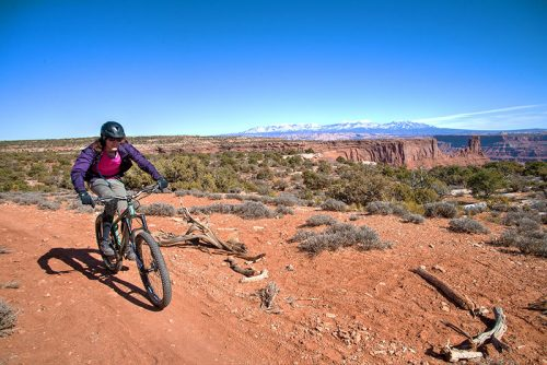 Alternatives to mountain bike singletracks in Arches and Canyonlands