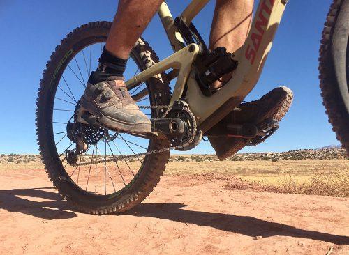 Mountain bike pedal technique