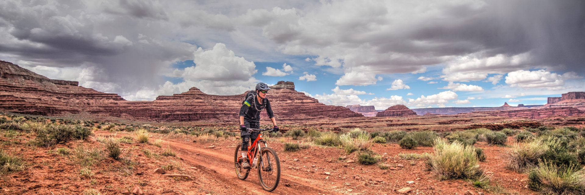 Between The Great Divide and Chicken Corners on the Needles to Moab guided mountain bike tour
